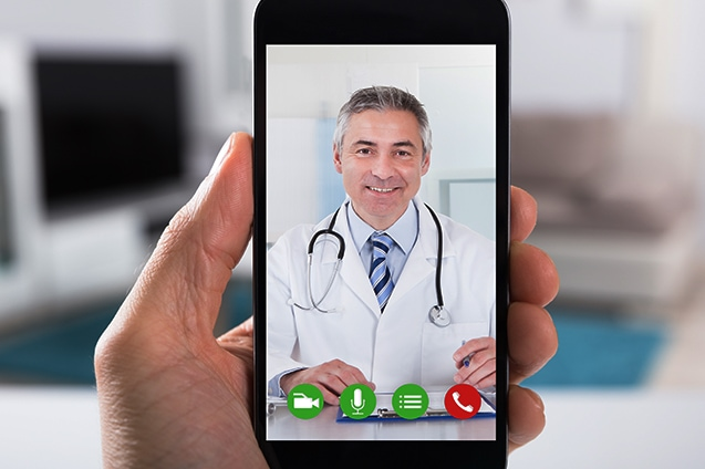 doctor video call smartphone